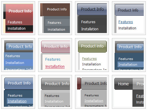 Horizontal Menu Ajax Dhtml Java Script Dynamic Drop Down Menus