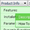 Horizontal Navigation Bar With Javascript Incorrect Copyright Deluxe Menu Firefox