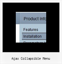 Ajax Collapsible Menu Slide Down