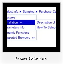 Amazon Style Menu Web Forms Menu Example