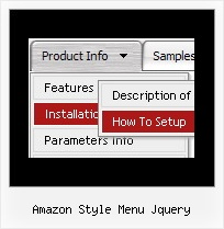 Amazon Style Menu Jquery Web Menu Samples