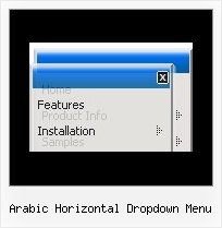 Arabic Horizontal Dropdown Menu Menu Popup Em Javascript