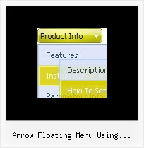 Arrow Floating Menu Using Javascript Dynamique Menu