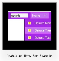 Atahualpa Menu Bar Example Html Table Drop Shadow