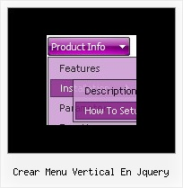 Crear Menu Vertical En Jquery Sample Dhtml Menus With Code