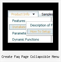 Create Faq Page Collapsible Menu Create Expanding Menus With Javascript