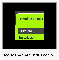 Css Collapsible Menu Tutorial Javascript Onmouseover Example