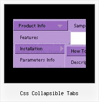 Css Collapsible Tabs Slide Menu From Top