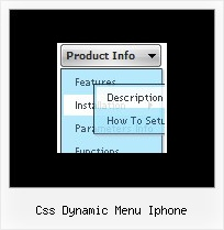 Css Dynamic Menu Iphone Movable Dhtml Examples