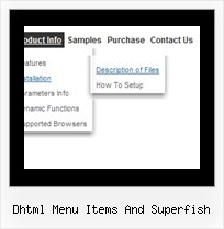 Dhtml Menu Items And Superfish Java Scripts Examples