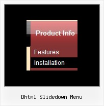 Dhtml Slidedown Menu Top Horizontal Menu And Mouseover