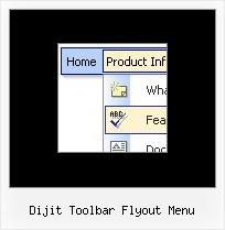 Dijit Toolbar Flyout Menu Collapsing Arrows