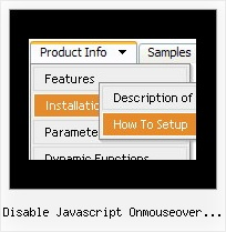 Disable Javascript Onmouseover Popup Box Webmasters Scripts Dhtml Menus Different Frames