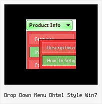 Drop Down Menu Dhtml Style Win7 Dhtml Windows Menu