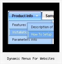 Dynamic Menus For Websites Menu Java Desplegable