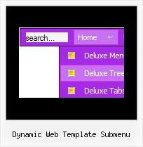 Dynamic Web Template Submenu Menu Cross Over Frame