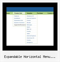 Expandable Horizontal Menu Indexhibit Drop Down Of States