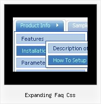 Expanding Faq Css Menu Bar In Java