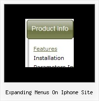 Expanding Menus On Iphone Site Html Menu Example Cascading