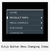 Extjs Button Menu Changing Items Menu Para Pagina