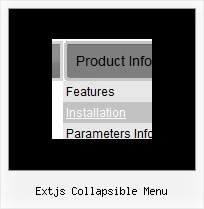 Extjs Collapsible Menu Clear Drop Down In Javascript