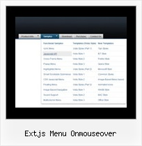 Extjs Menu Onmouseover Design Navigation Example
