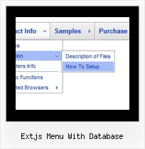 Extjs Menu With Database Html Navigation Menu