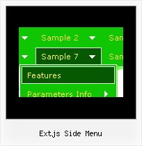 Extjs Side Menu Mouse Over Drop Downs For Web Sites