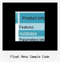 Float Menu Sample Code Javascript Creator