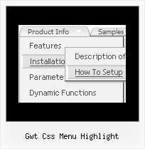 Gwt Css Menu Highlight Cross Frame Custom Menu