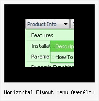 Horizontal Flyout Menu Overflow Dhtml Floating Menu Movable