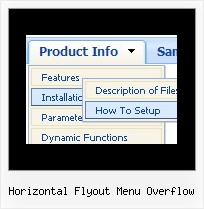 Horizontal Flyout Menu Overflow How Do I Make A Drop Down Menu With Html