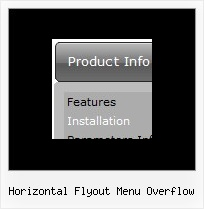 Horizontal Flyout Menu Overflow Web Menu Maker