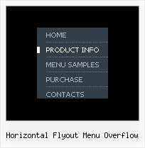 Horizontal Flyout Menu Overflow Tree Menu Sample Frame Version