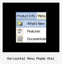 Horizontal Menu Phpbb Html Vertical Horizontal Menu Bar Dhtml