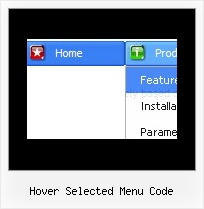 Hover Selected Menu Code Dhtml Menu Sliding Software