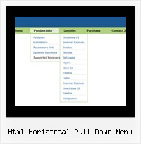 Html Horizontal Pull Down Menu Menu Dynamique Horizontal En Java