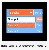 Html Sample Onmouseover Popup Windows Drop Down Menu In Css