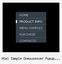 Html Sample Onmouseover Popup Windows States Drop Down