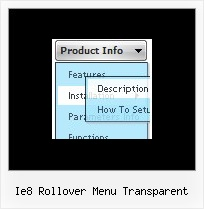 Ie8 Rollover Menu Transparent Javascript Menu Side