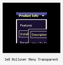 Ie8 Rollover Menu Transparent Change Html Drop Down Menu Disable Dynamic