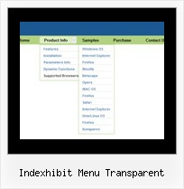 Indexhibit Menu Transparent Sample Simple Horizontal Menu Html