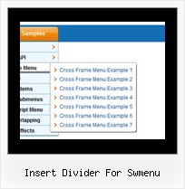 Insert Divider For Swmenu Down Menu Java Script