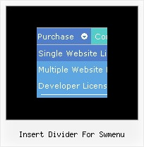 Insert Divider For Swmenu Slide Menu Creator