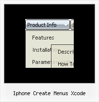 Iphone Create Menus Xcode Simple Menu Using Javascript