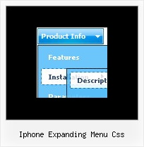 Iphone Expanding Menu Css Html Button Drop Shadow Example