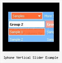 Iphone Vertical Slider Example Web Dhtml Menu Tutorial