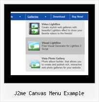 J2me Canvas Menu Example Drop Down Navigation Bar Code