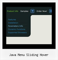 Java Menu Sliding Hover Sample Professional Icons