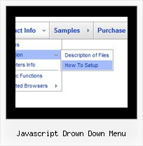 Javascript Drown Down Menu Vertical Menu Collapsible